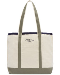 Maison kitsun off white richelieu tote bag medium 579127