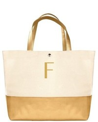 Monogram canvas tote yellow medium 620053