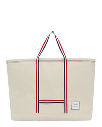 Thom Browne Off White Oversized Tool Tote