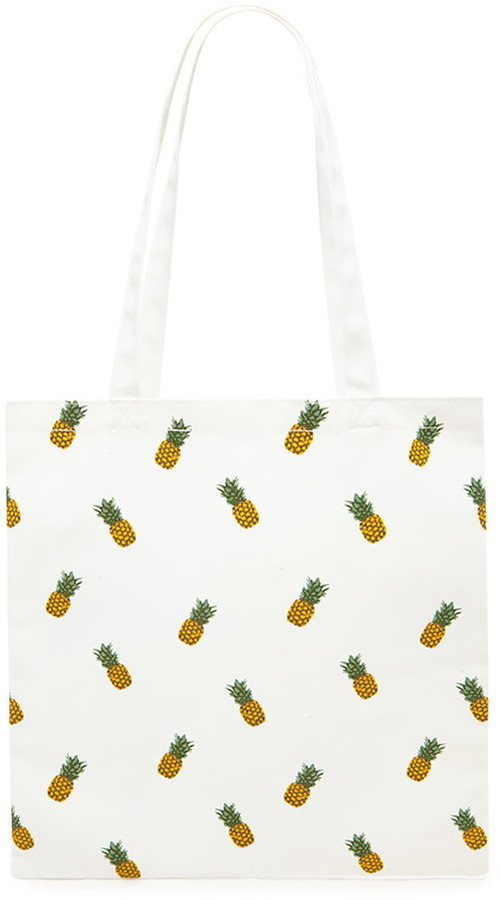 forever 21 pineapple print tote bag where to buy how to wear