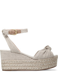 MICHAEL Michael Kors Michl Michl Kors Maxwell Canvas Wedge Sandals
