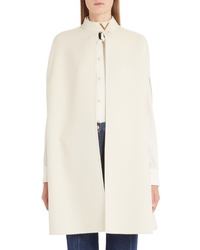 Valentino V Detail Double Face Wool Angora Rabbit Cape