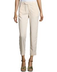 Lightweight linen blend capri pants beige medium 862749