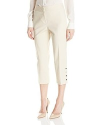 Rafaella raflla double weave slim capri pant medium 862750