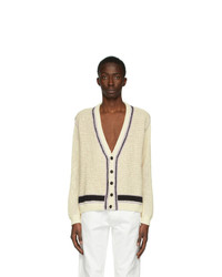 Maison Margiela Off White 5 Gauge Cardigan