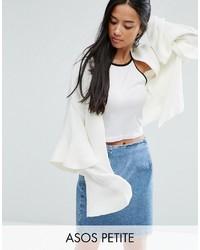 Asos Petite Petite Cardigan With Ruffle Sleeves