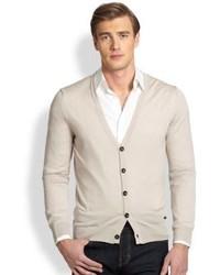 Armani Collezioni Wool Button Up Cardigan