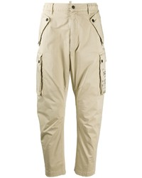 DSQUARED2 Logo Print Tapered Cargo Trousers