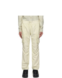 John Elliott Off White Cotton Cargo Pants