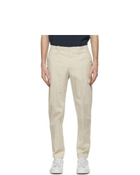 Z Zegna Off White Stretch Cotton Cargo Pants