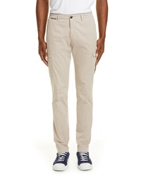 Eleventy Stretch Cotton Cargo Trousers