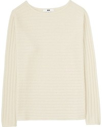 Uniqlo Cashmere Blend Boat Neck Sweater