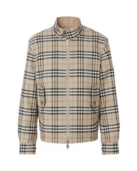Burberry Bramwell Check Reversible Wool Cotton Harrington Jacket