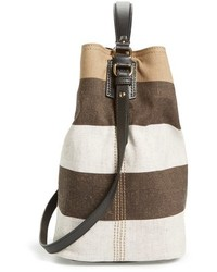 ... Burberry Medium Susanna Mega Check Jute Cotton Bucket Bag ... 837f216a18ba9