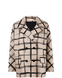 Marni Double Breasted Check Coat