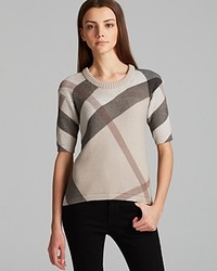 Burberry Brit Check Crewneck Sweater