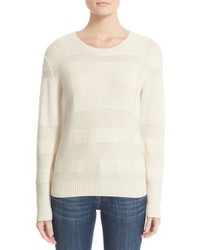 Burberry Deel Check Knit Wool Cashmere Sweater