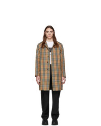 Beige Check Raincoat