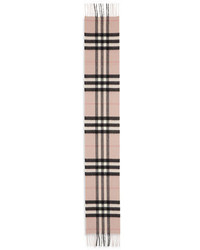 Burberry Kids Exploded Check Cashmere Scarf Ash Rose