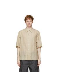Lemaire Beige Woven Short Sleeve Shirt