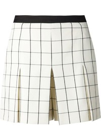 Proenza Schouler Checked Skirted Shorts