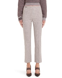 Fendi Microcheck Wool Blend Pants
