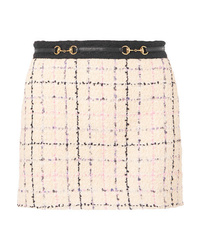 Gucci Embellished Cotton Blend Boucl Tweed Mini Skirt