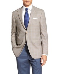 Beige Check Wool Blazer