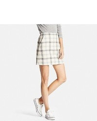 Uniqlo High Waist Wool Blend Mini Skirt