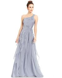 Adrianna Papell Tiered Chiffon Dress