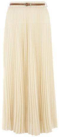 ed1370bacd Dorothy Perkins Jolie Moi Beige Pleat Belted Maxi Skirt, $57 ...