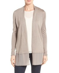 Chiffon trim cardigan medium 3674699