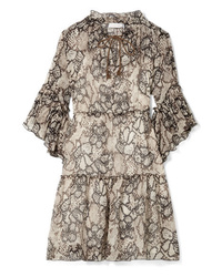See by Chloe Floral Print Cotton And Crepon Dress