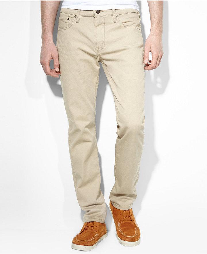 1116dc23e40 Levi's 511 Slim Fit True Chino Jeans, $69 | Macy's | Lookastic.com
