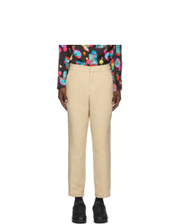 Opening Ceremony Beige Elasticized Stripe Trousers
