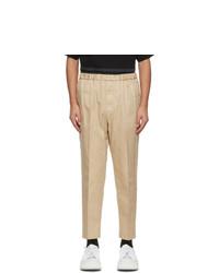 Jil Sander Beige Gabardine Cropped Trousers