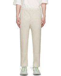 Homme Plissé Issey Miyake Beige Monthly Color August Trousers