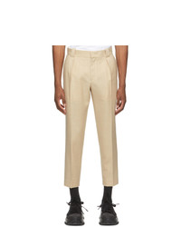 Wooyoungmi Beige One Pleat Trousers