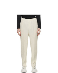 Homme Plissé Issey Miyake Beige Pleats Bottoms 2 Creased Trousers