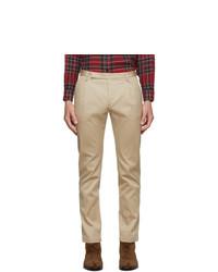 Saint Laurent Beige Raw Italian Chino Trousers