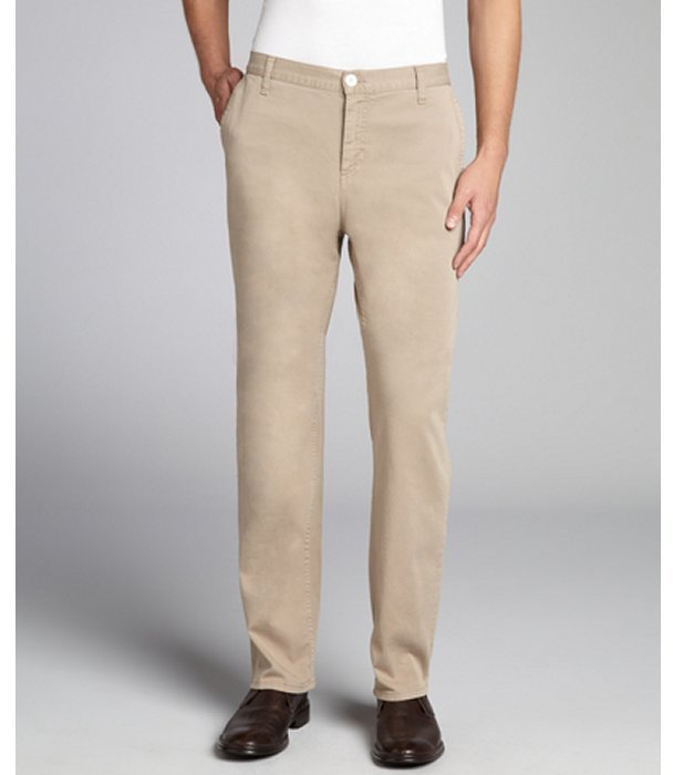 Gucci Beige Stretch Cotton Chino Pants