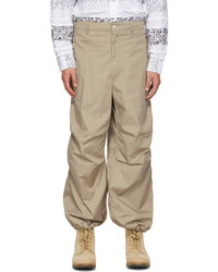 Engineered Garments Beige Twill Over Trousers