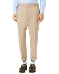 Gucci Brushed Cotton Chino Pants Oatmeal