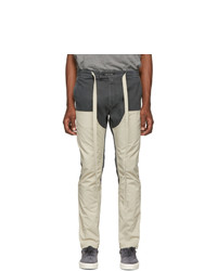 Fear Of God Green And Off White Double Front Trousers