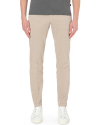 Hugo Boss Leisure Slim Fit Tapered Stretch Cotton Trousers