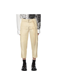 Lanvin Off White Cropped Double Belt Trousers
