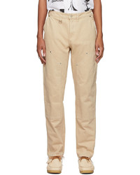 Brownstone Off White Denim Double Knee Trousers