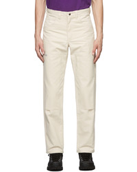 Ostrya Off White Hardy Canvas Trousers