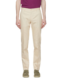 Etro Off White Jacquard Paisley Trousers