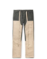 Fear Of God Panelled Cotton Canvas And Nylon Drawstring Trousers